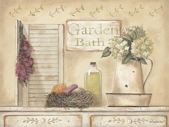 Pam Britton BR269 - Garden Bath - Dried Flowers, Pitcher, Garden Bath from Penny Lane Publishing
