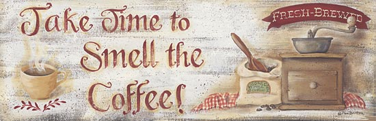 Pam Britton BR287 - Smell the Coffee - Coffee, Coffee Grinder, Cup, Signs from Penny Lane Publishing