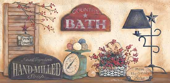 Pam Britton BR326 - Country Bath - Bath, Scale, Flowers, Lamp, Signs from Penny Lane Publishing