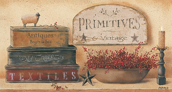 Pam Britton BR343 - Primitives & Vintage - Boxes, Candle, Signs, Berries from Penny Lane Publishing