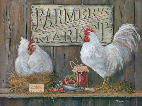 Pam Britton BR387 - Farmer's Market - Rooster, Chickens, Jam, Strawberry, Farmer's Market from Penny Lane Publishing