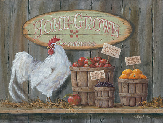Pam Britton BR388 - Homegrown Goodness - Rooster, Fruit, Signs, Baskets, Kitchen from Penny Lane Publishing