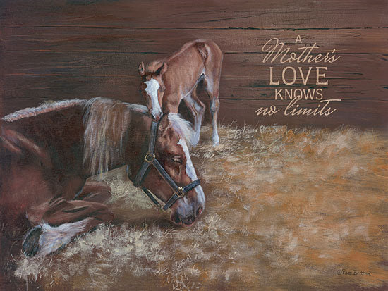 Pam Britton BR390 - A Mother's Love - Horses, Mother, Love, Stall from Penny Lane Publishing