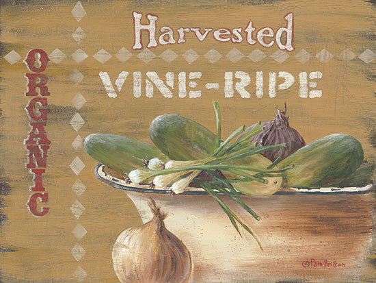 Pam Britton BR393 - Vine Ripe - Vegetables, Organic, Kitchen, Country from Penny Lane Publishing
