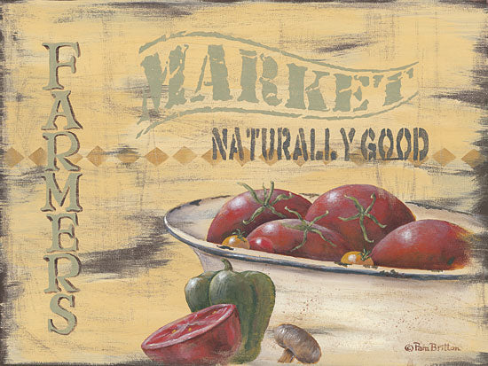 Pam Britton BR394 - Farmer's Market - Market, Tomatoes, Kitchen, Country from Penny Lane Publishing