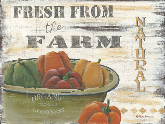 Pam Britton BR396 - Fresh from the Farm - Peppers, Organic, Kitchen, Country from Penny Lane Publishing