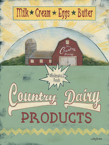 Pam Britton BR427 - Country Dairy - Farm, Barn, Kitchen, Country from Penny Lane Publishing