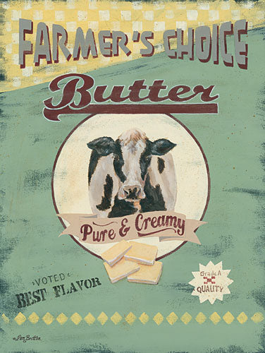 Pam Britton BR428 - Farmer's Choice Butter - Farm, Cow, Kitchen, Country from Penny Lane Publishing