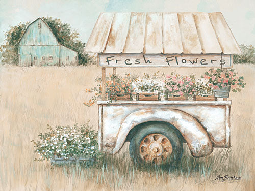 Pam Britton BR437 - Fresh Flowers for Sale - Truck, Flowers, Barn, Field from Penny Lane Publishing
