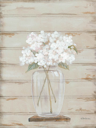 Pam Britton BR438 - Hydrangeas in Vase - Hydrangeas, Vase, Jar from Penny Lane Publishing
