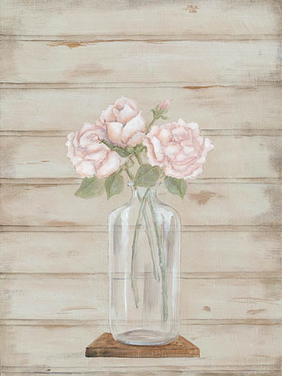 Pam Britton BR439 - Roses in Glass Vase - Rose, Vase, Jar from Penny Lane Publishing