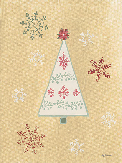 Pam Britton BR483 - BR483 - Holiday Cheer I - 12x16 Christmas Tree, Flower, Snowflakes from Penny Lane