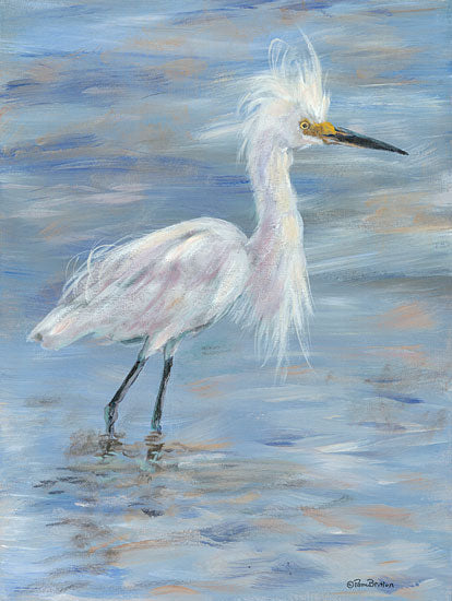 Pam Britton BR508 - BR508 - Egret - 12x16 Egret, Coastal, Lake from Penny Lane