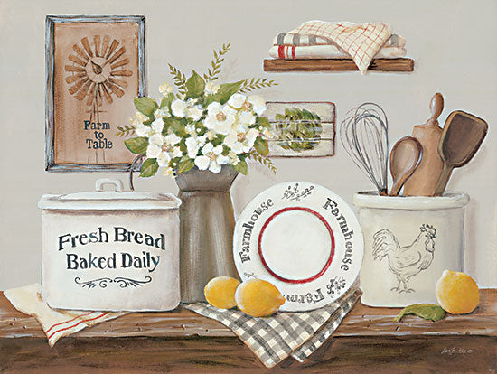 Pam Britton BR523 - BR523 - Farm Kitchen I - 16x12 Farm Kitchen, Kitchen Utensils, Still Life, Lemons, Flowers, Primitive from Penny Lane