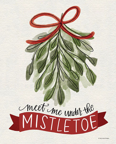 Kyra Brown BRO100 - BRO100 - Under the Mistletoe - 12x16 Under the Mistletoe, Mistletoe, Banner, Holidays, Christmas from Penny Lane