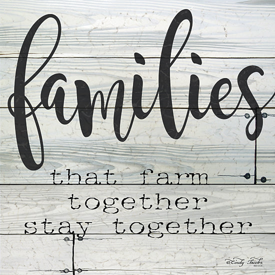 Cindy Jacobs CIN102 - Families that Farm Together - Stay Together - Farm, Typography, Signs, Family from Penny Lane Publishing