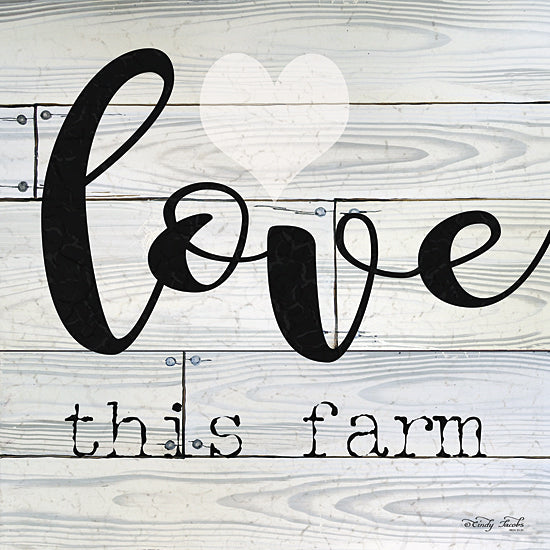Cindy Jacobs CIN104 - Love This Farm - Farm, Typography, Signs, Love from Penny Lane Publishing