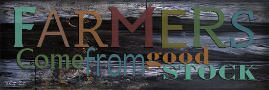 Cindy Jacobs CIN112 - CIN112 - Farmer's Come from Good Stock - 36x12 Farmers, Wood Background, Rainbow Colors, Signs from Penny Lane