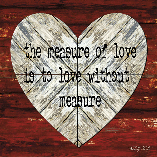 Cindy Jacobs CIN119 - The Measure of Love - Heart, Love, Typography, Signs from Penny Lane Publishing