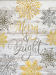 CIN1243 - Merry & Bright Snowflakes  - 12x16