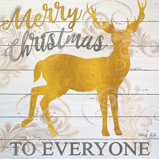 Cindy Jacobs CIN1260 - CIN1260 - Merry Christmas Deer - 12x12 Christmas, Signs, Typography, Reindeer, Wood Planks from Penny Lane