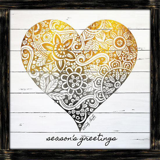 Cindy Jacobs CIN1351 - CIN1351 - Zen Season's Greeting Heart   - 12x12 Signs, Typography, Patterns, Heart, Wood Planks from Penny Lane