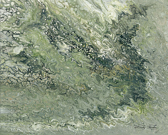 Cindy Jacobs CIN1515 - Abstract in Seafoam I - 16x12 Abstract, Green, Contemporary from Penny Lane