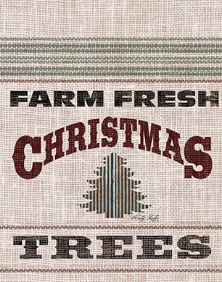 Cindy Jacobs CIN1524 - Farm Fresh Christmas Trees - 12x16 Holidays, Christmas Trees, Farm , Grain Sack, Linen Tea Towels from Penny Lane