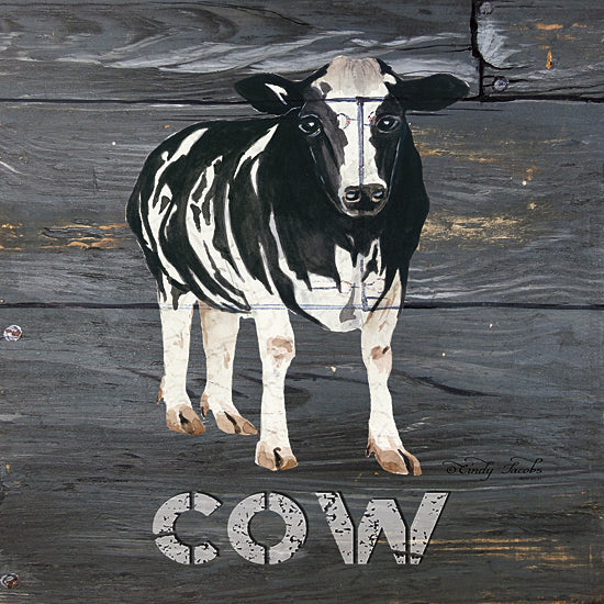 Cindy Jacobs CIN154 - Cow - Cow, Animals, Sign from Penny Lane Publishing