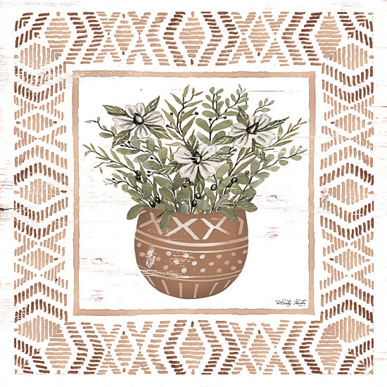 Cindy Jacobs CIN1668 - CIN1668 - Terracotta Pot II    - 12x12 Terracotta Pot, Aztec, Greenery, Flowers, Patterns, Border, Southwestern from Penny Lane