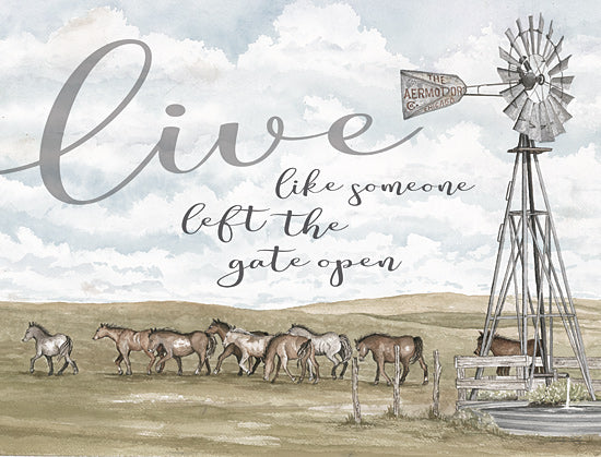 Cindy Jacobs CIN1740 - CIN1740 - Live Like Someone…   - 16x12 Signs, Typography, Windmill, Horses, Landscape from Penny Lane