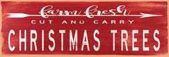 CIN1748 - Christmas Trees Sign - 18x6