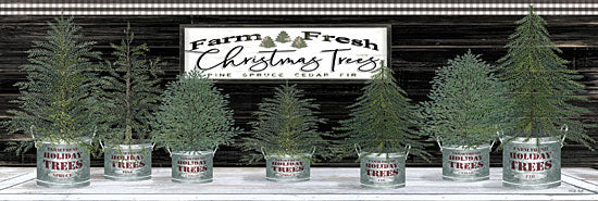 Cindy Jacobs CIN1765 - CIN1765 - Galvanized Pots Christmas Trees I - 18x6 Signs, Typography, Christmas Trees from Penny Lane