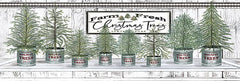 CIN1769 - Galvanized Pots White Christmas Trees I - 18x6