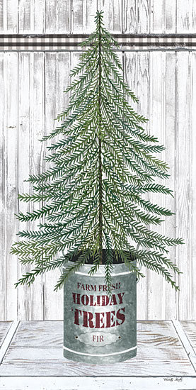 Cindy Jacobs CIN1774 - CIN1774 - Galvanized Pot Fir - 9x18 Christmas Tree, Fir, Holidays, Wood Planks from Penny Lane