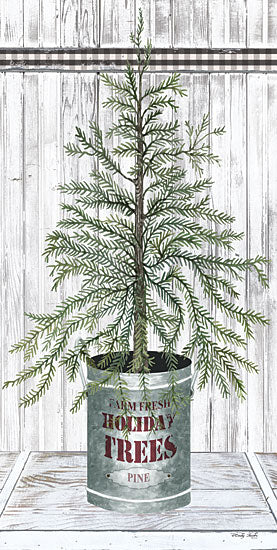 Cindy Jacobs CIN1775 - CIN1775 - Galvanized Pot Pine - 9x18 Christmas Tree, Pine, Holidays, Wood Planks from Penny Lane
