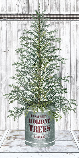 Cindy Jacobs CIN1776 - CIN1776 - Galvanized Pot Spruce - 9x18 Christmas Tree, Spruce, Holidays, Wood Planks from Penny Lane