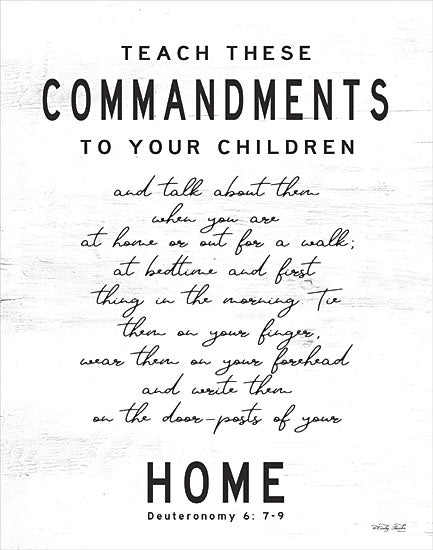 Cindy Jacobs CIN1803 - CIN1803 - Teach These Commandments - 12x16 Signs, Typography, Children, Commandments, Deuteronomy 6: 7-9 from Penny Lane