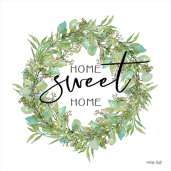 Cindy Jacobs CIN1834 - CIN1834 - Home Sweet Home Wreath I    - 12x12 Home Sweet Home, Wreath, Greenery, Home, Family, Signs from Penny Lane