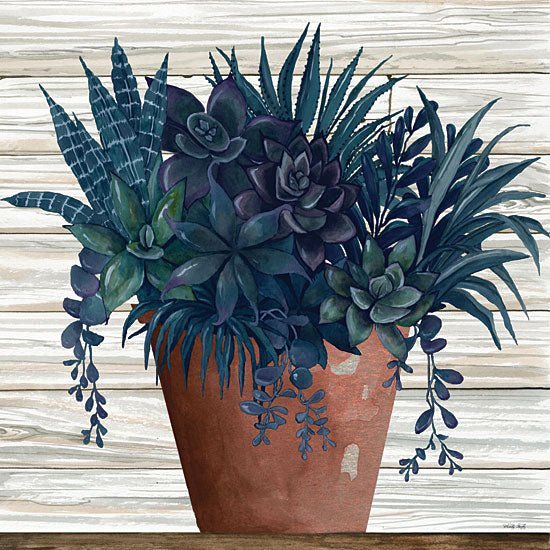 Cindy Jacobs CIN1951 - CIN1951 - Remarkable Succulents II - 12x12 Succulents, Clay Pot, Wood Planks from Penny Lane