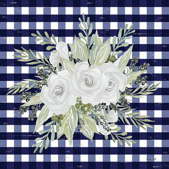 Cindy Jacobs CIN1974 - CIN1974 - Navy Floral II    - 12x12 Flowers, Plaid, Ivy, Greenery from Penny Lane