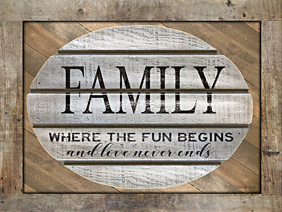 Cindy Jacobs CIN2052 - CIN2052 - Family - Where the Fun Begins - 16x12 Signs, Typography, Family, Wood Planks from Penny Lane