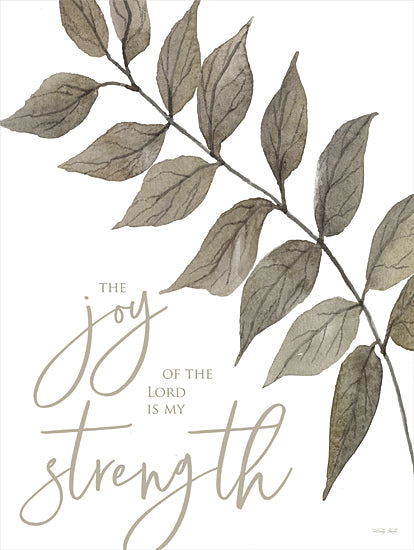 Cindy Jacobs CIN2141 - CIN2141 - The Joy of the Lord is My Strength - 12x16 Joy of the Lord, My Strength, Leaves, Neutral Palette, Signs from Penny Lane