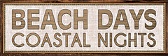 CIN2190 - Beach Days Coastal Nights I   - 18x6