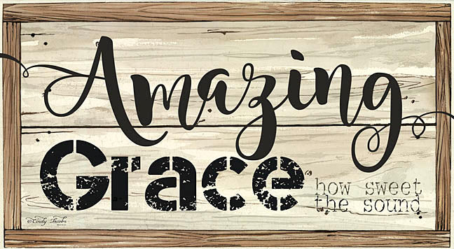 Cindy Jacobs CIN226B- Amazing Grace - Amazing Grace, Religious, Signs, Wood Planks from Penny Lane Publishing