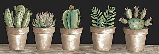 Cindy Jacobs CIN2330A - CIN2330A - Cactus Row   - 36x12 Succulents, Cactus, White Pots, Still Life, Southwestern from Penny Lane