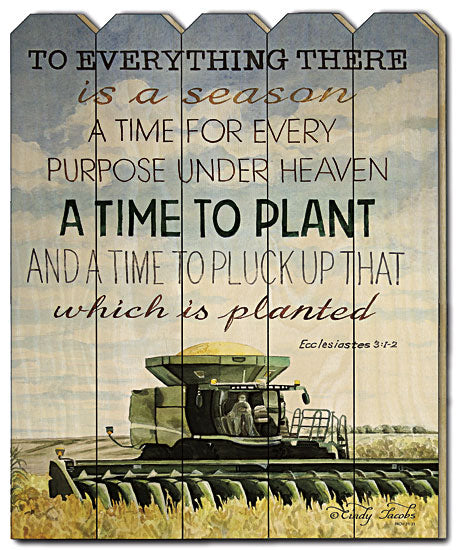 Cindy Jacobs CIN234PF - Time to Plant - Typography, Farm, John Deer, Garden, Plant, Season, Landscape, Wood Slat, Picket Fence from Penny Lane Publishing