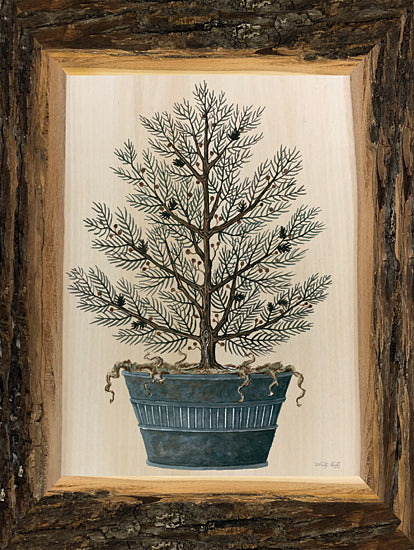 Cindy Jacobs CIN2449 - CIN2449 - Woodland Potted Tree I - 12x16 Tree, Potted Tree, Woodland Tree, Rustic Frame from Penny Lane