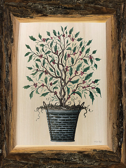 Cindy Jacobs CIN2451 - CIN2451 - Woodland Potted Tree III - 12x16 Tree, Potted Tree, Woodland Tree, Pinecones, Rustic Frame from Penny Lane