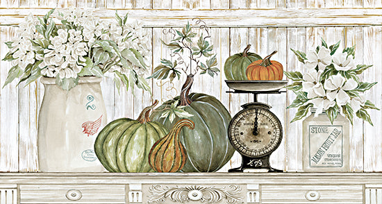 Cindy Jacobs CIN2536 - CIN2536 - Kitchen Harvest - 18x9 Pumpkins, Scale, Crocks, Still Life, Flowers, Gourds, Autumn, Decorative from Penny Lane